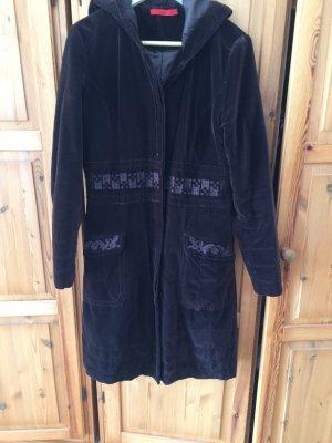 Fransa Manteau à capuche brun noir
