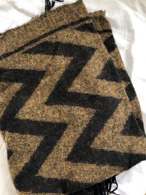 HM Écharpe en tricot brun-noir