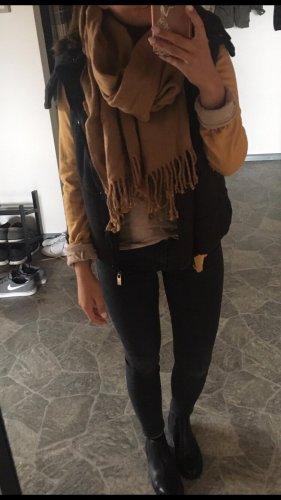 HM Écharpe en laine brun