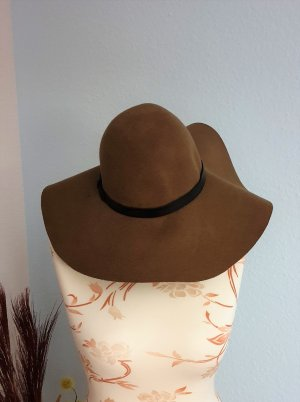 H&M Floppy Hat brown-light brown wool