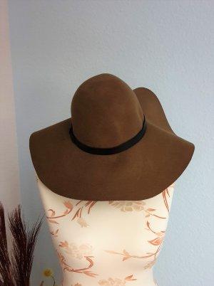 H&M Cappello a falde larghe marrone-marrone chiaro Lana