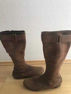 DKNY Jackboots light brown leather