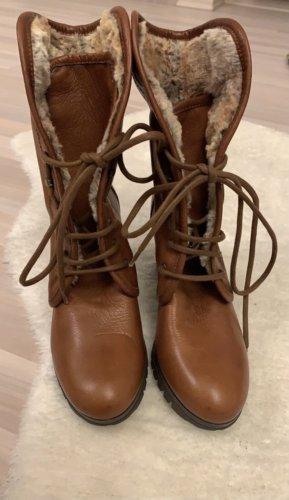 Gadea Futrzane buty brązowy