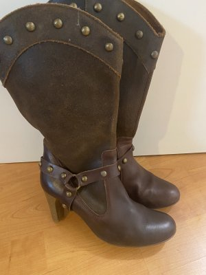 Zara Botas bajas marrón oscuro
