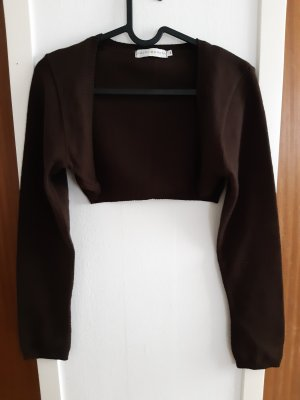 Cache & Cache Knitted Bolero dark brown-black brown