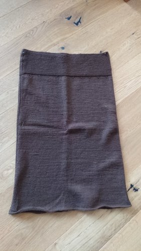 Knitted Skirt brown-dark brown