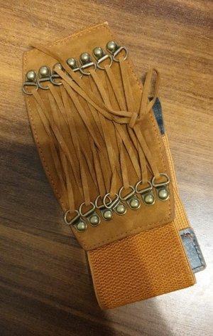 Cinturón pélvico marrón claro-marrón arena Imitación de cuero