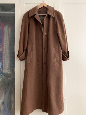 Brauner Trenchcoat/ Mantel aus 100% Lammwolle