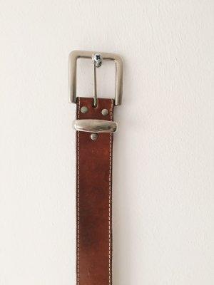 Brauner Vintage-Ledergürtel