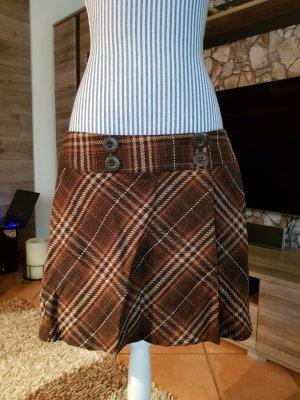 Street One Wraparound Skirt brown-cream