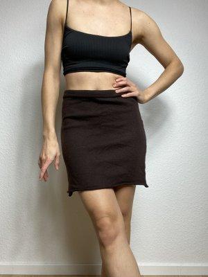 Knitted Skirt dark brown