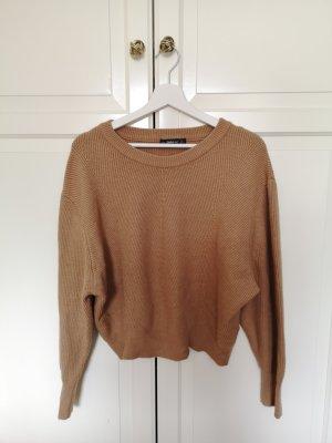 Zara Pull tricoté chameau
