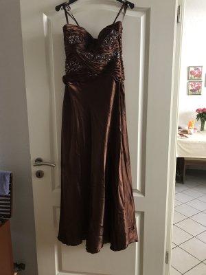 Braunes Abendkleid mit Corsage