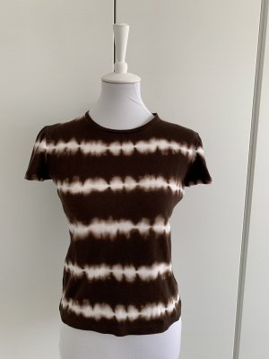 Jones New York Batik shirt donkerbruin-wolwit Katoen