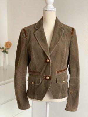 Braunes Blazer-Jacket / Cord-Jacke