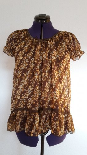 Camisa tipo Carmen color bronce
