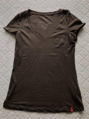 Braunes edc Basic T-Shirt in XS