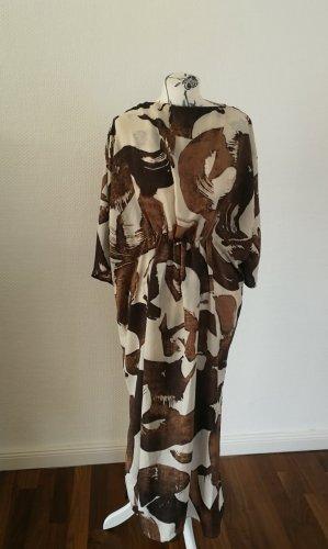 Braunes gemustertes Kleid Mango M