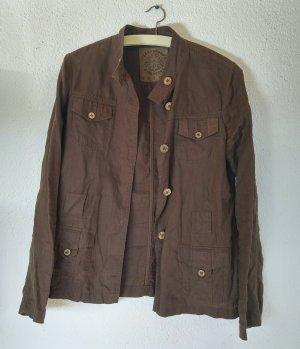 Tchibo / TCM Long Sleeve Shirt brown linen