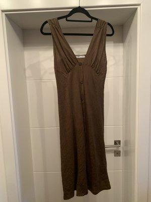 Pull & Bear Vestido de manga corta marrón-marrón oscuro