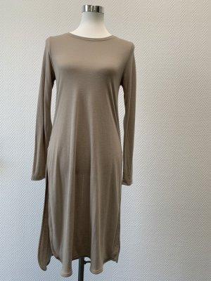 Robe crayon chameau-beige tissu mixte