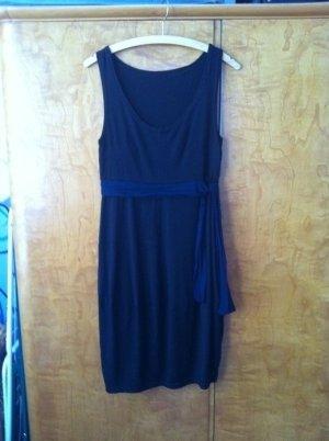 Sukienka z rękawem balonowym ciemnobrązowy Tkanina z mieszanych włókien