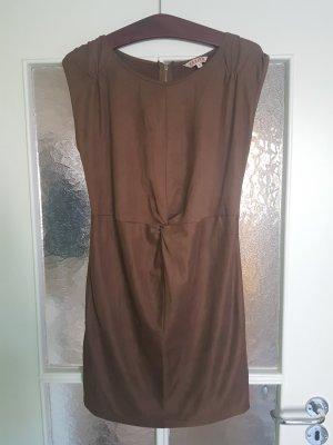 Braunes Kleid Wild-/Velourslederimititat