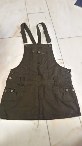 Sublevel Pinafore Overall Skirt brown-dark brown