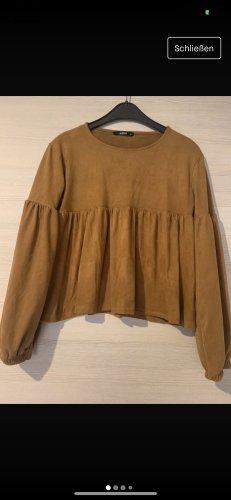 addax Jersey de cuello redondo color bronce