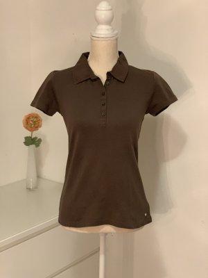 Braunes Polo Shirt von Street One Gr. S