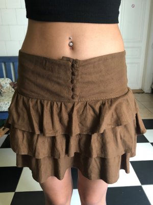 Xside Broomstick Skirt brown spandex