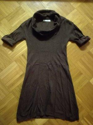 Robe pull brun cachemire