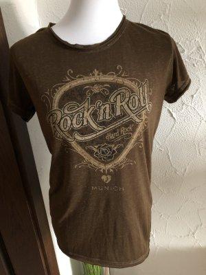 Braunes Shirt Hardrock Cafe München / Munich -Gr. M