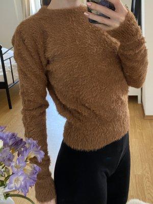 Braunes Strickoberteil von ZARA knit
