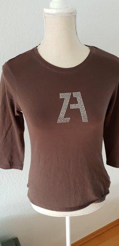 braunes T-Shirt 3/4 lang braun Zara