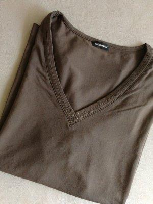 Gerry Weber Koszulka z dekoltem w kształcie litery V brązowy