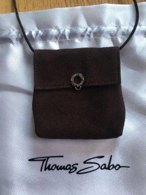 Thomas Sabo Dije marrón-color plata