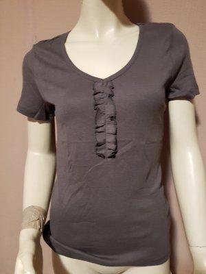 braunes Tshirt mit Rüschen NEU Gr. 36/38