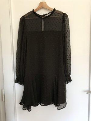 Braunes Volantkleid von Zara