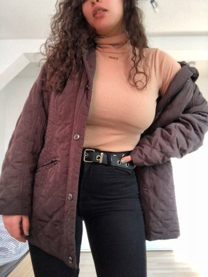 Braunes winter mantel