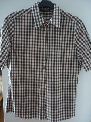 Eterna Camisa de manga corta marrón-beige claro Algodón