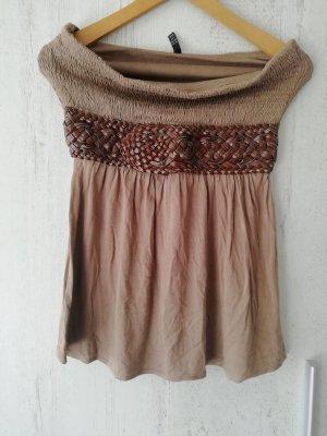 Amisu Bandeau Top light brown