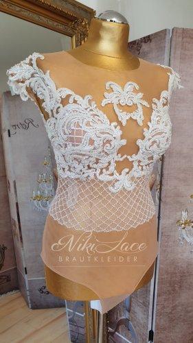 Braut Body Hochzeit Body mit Spitze & Pants bestickt Gr. 36 NEU mit Etikett SALE