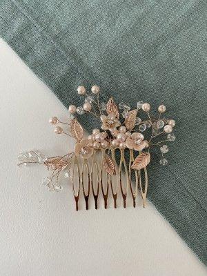 Handmade Épingle à cheveux or rose