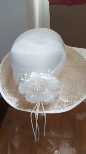 Cappello parasole bianco Seta