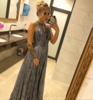 Vestido de novia gris claro-azul celeste