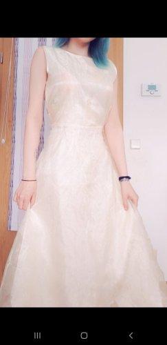 Vestido de novia crema-beige claro