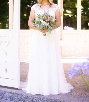 Bianco Evento Suknia ślubna biały-kremowy