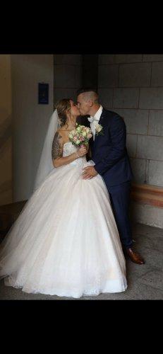 LiRi Bridal Bruidsjurk wit-licht beige