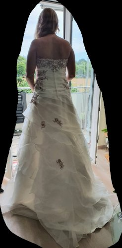 unbekannte Vestido de novia blanco